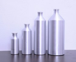 Silver Aluminium Conical Bottle