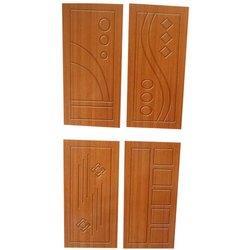 Brown 7-8 Feet Rectangular Plywood Door