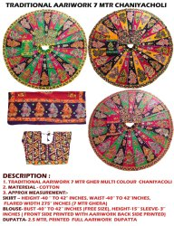 New Designer Printed With Kutchi Work Chaniya Choli
