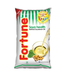 Fortune Soya Health Refined Soyabean Oil Pouch 1L