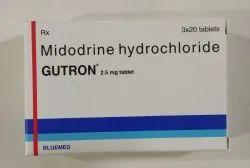 Gutron 2.5mg Tablets (Midodrine hydrochloride tablets)