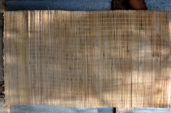 Brown Banana Fiber Mat, Mat Size: 17''*1mtr*3mm Thickeness