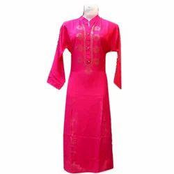 Cotton Casual Ladies Pink Kurti