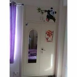 Hinged Style Steel Wardrobe With Mirror