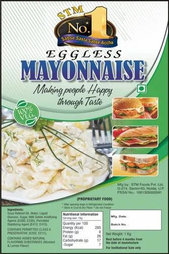 Cream Low Fat Mayo STM No. 1, Packaging Type: 1 Kg Evoh Pouch, for Sandwich
