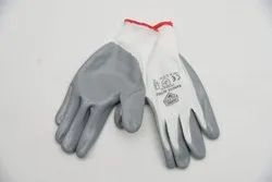 Nylon Cotton Gloves ( Brown ), For Industrial, Size: Medium