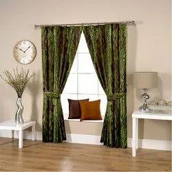 Floral Green Curtain