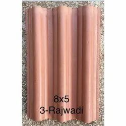 8x5 Inch Rajwadi Clay Roof Tile