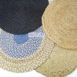 Multipurpose Handmade Round Placemats Woven Jute Tablemats