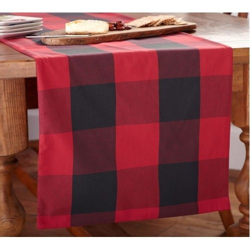 Various Sizes Red Plaid Table Runner