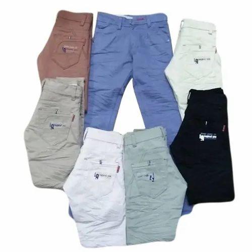 Regular Fit Kids Cotton Trousers