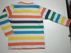 Custom Cotton Boys Striped t Shirt, Size: 3-5 Years