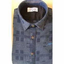Cotton/Linen Casual Wear Mens Trendy Designer Shirt
