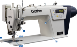 brother Single Needle Direct Drive Lock Stitcher with Electronic Feeding System and Thread Trimmer