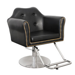 Rotatable Black Hydraulic Salon Chair
