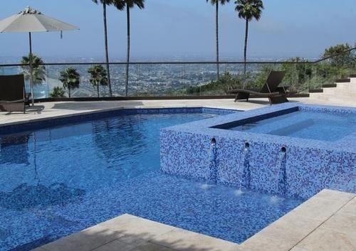 Swimming Pool Glass Mosaic Tiles - Swimming Pool Regular Glass ...
