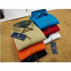 Cotton XL Men Full Sleeves Plain Shirt