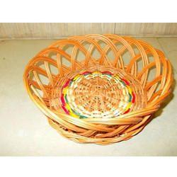 Bamboo Round Jali Designer  Basket