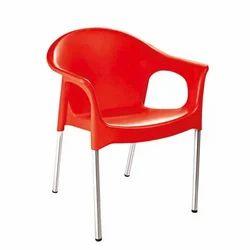 Red Blue Orange Brown Cello Metallo Plastic Chair, Warranty: 1 Year
