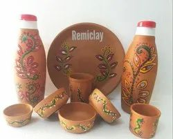 Eco Friendly Terracotta Clay Dinner Set