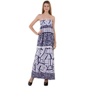 Party Wear Printed Long Tube Dress, Handwash
