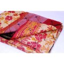 Handmade Indian Vintage Super Fine Cotton Kantha Quilt