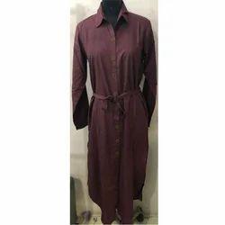 Casual Brown Ladies Robe