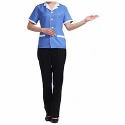 Aaditya Uniforms Full or Half Sleeve Ladies Housekeeping Uniform