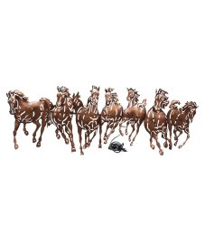Interio Crafts Black Seven Horse LED Metal Wall Art, Size: 38 X 14 inches