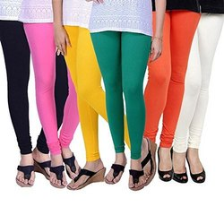 Cotton Spandex Chudidar Ladies Plain Churidar Leggings