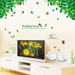 Papar Wall Decor Wedding Swan Sticker 60 X 90