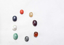 Nine 9 Gems Navratna Navagraha Zodiac Birthstone Octagon Cabochon Gemstone Loose Gemstone