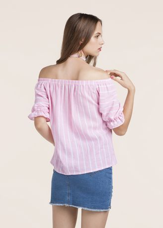 0d345eee63c Cotton Casual Striped Off Shoulder Blouse Top, Rs 500 /piece | ID ...