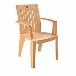 Navajo White Plastic Armrest Chair, for Home