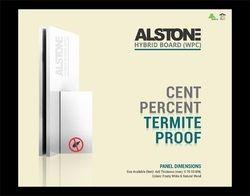 White Plastic Alstone WPC Board, Thickness: 4-25 mm