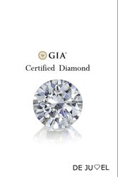 Gia Certified Round Brilliant Cut Natural Diamond