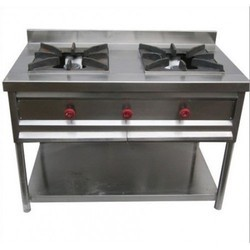 Double Burner Commercial Gas
