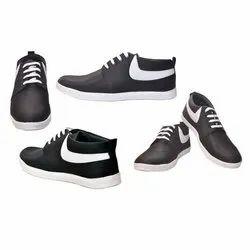 Casual Wear Mens Black Sneaker Shoes, Size: 6-10