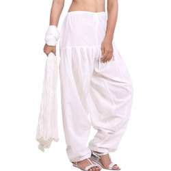 Off White Patiala Salwar and Dupatta Set
