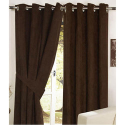 Plain Eyelet Door Curtain