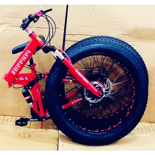 Red Ferrari Foldable Cycle