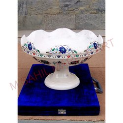 Marble Inlay Fruit Pot