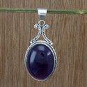 925 Sterling Silver Wholesale Amethyst Gemstone Pendant