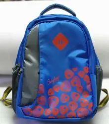 Plain Black Nylon College Bag