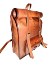 Roll On Leather Backpack