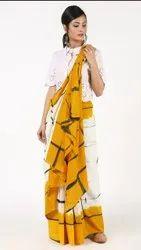 Bagru Shibori Print Cotton Saree