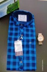 Casual Wear Regular Fit Spitzer Check Shirts