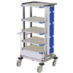 Mild Steel Monitor Trolley