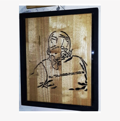 Public Figure Wooden Carving PF3