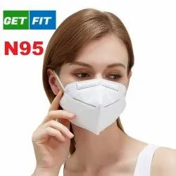 White Get Fit N95 Face Mask For Anti Pollution, For Healthcare, Size: Universal